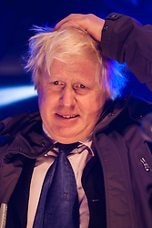 Trafalgar Square, London, December 16th 2014.  London's Jewish community celebrates Chanukah in the Square which marks the beginning of the Jewish festival of lights. The annual event is presented by the Jewish Leadership Council, London Jewish Forum and Chabad and is supported by the Mayor of London.  PICTURED: Mayor of London Boris Johnson greets the crowd.