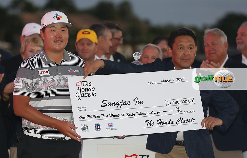 Sungjae Im (KOR) winner of the Honda Classic, PGA National, Palm Beach Gardens, West Palm Beach, Florida, USA. 1/03/2020.<br /> Picture: Golffile | Scott Halleran<br /> <br /> <br /> All photo usage must carry mandatory copyright credit (© Golffile | Scott Halleran)