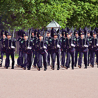 Changing of the Guards at Royal Palace in Oslo, Norway<br />