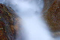 Top of a Waterfall Looking Down Through Rocks, San Gabriel Mountains, California