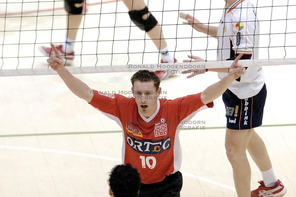 05-03-2006 VOLLEYBAL: FINAL 4 HEREN:  ORION - ORTEC NESSELANDE: ROTTERDAM<br /> In een mooie finale was Nesselande in 3 sets te sterk voor Orion / Dirk Jan van Gendt<br /> Copyrights2006-WWW.FOTOHOOGENDOORN.NL