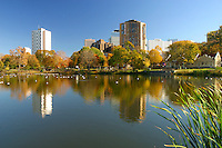 Loring Park in the center of Minneapolis on a beautiful Autumn afternoon.