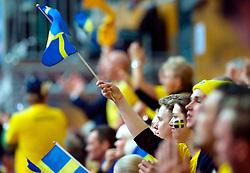 LEIZPIG - WC HOCKEY INDOOR 2015<br /> AUS v SWE (Pool A)<br /> Foto: Fans from Sweden<br /> FFU PRESS AGENCY COPYRIGHT FRANK UIJLENBROEK