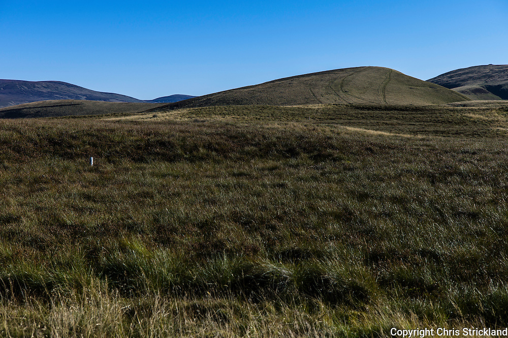 Pennine Way, Cheviot Hills, UK. 2nd October 2015. Looking east towards Windy Rig on the Pennine Way in the Cheviot Hills.