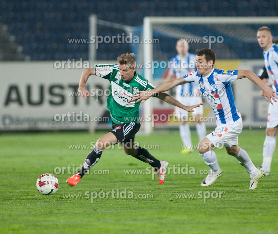 05.04.2014, Stadion, Wiener Neustadt, AUT, 1. FBL, SC Wiener Neustadt vs SV Josko Ried, 31. Runde, im Bild Thomas Hinum, Herbert Rauter (WNSC) // during Austrian Football Bundesliga 31st round match between SC Wiener Neustadt and SV Josko Ried at the Wiener Neustaedter Stadion, Austria on 2014/04/05. EXPA Pictures © 2014, PhotoCredit: EXPA/ Sascha Trimmel