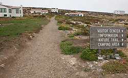 Trail leading to visitor's center and other structures, Anacapa Island, Channel Islands National Park, California, United States of America