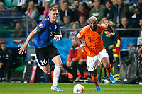 09-09-2019: Voetbal: Estland v Nederland: Tallinn<br /> Kwalificatieronde EK 2020<br /> <br /> L+R Joonas Tamm of Estonia and Ryan Babel of The Netherlands<br /> <br /> Foto: Dijks Fotografie / Henk Jan Dijks<br /> <br /> Foto: Henk Jan Dijks