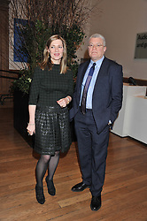 Curators of the Hockney Exhibition at the RA EDITH DEVANEY and MARCO LIVINGSTONE at a private view to celebrate the opening of the Royal Academy's exhibition of work by David Hockney held at The Royal Academy, Burlington House, Piccadilly, London on 17th January 2012.