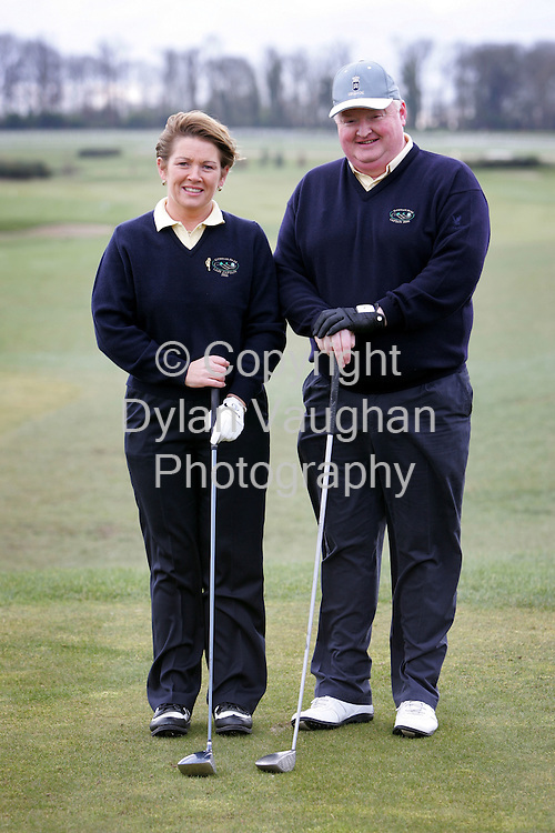 26/2/2006.The new Lady Captain Niamh Connolly and Captain Fr Ollie Maher pictured at the Captains Drive-In at Gowran Park Golf Club on Sunday..Picture Dylan Vaughan