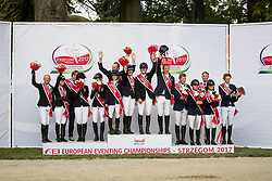 Team Great Britain, Team Germany, Team Sweden<br /> FEI European Eventing Championships Strzegom 2017<br /> © Hippo Foto - Eric Knoll