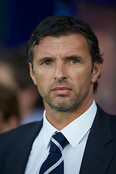 02.09.2011, Cardiff City Stadium, Cardiff, WAL, UEFA Euro 2012, Qualifier, Wales vs Montenegro, im Bild Wales' manager Gary Speed MBE against Montenegro during the UEFA Euro 2012 Qualifying Group G match at the  Cardiff City Stadium, EXPA Pictures © 2011, PhotoCredit: EXPA/ Propaganda/ D. Rawcliffe *** ATTENTION *** UK OUT!