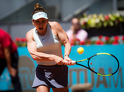 May 9, 2019,  Madrid, Spain: SIMONA HALEP of Romania in action against Ashleigh Barty of Australia during their quarter-final match at the 2019 Mutua Madrid Open WTA Premier Mandatory tennis tournament Halep won 7:5, 7:5.  (Credit Image: © AFP7 via ZUMA Wire)