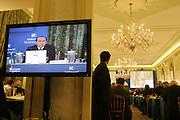 Speach of Italian Prime Minister, Silvio Berlusconi, during the annual Ambrosetti Workshop at Grand Hotel Villa d'Este in Cernobbio, September 4, 2005. © Carlo Cerchioli