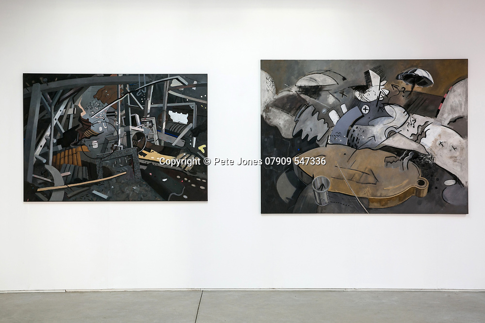 Jerwood Gallery install;<br /> Gus Cummins: Off the Wall;<br /> Hastings;<br /> 22nd January 2018.<br /> <br /> © Pete Jones<br /> pete@pjproductions.co.uk
