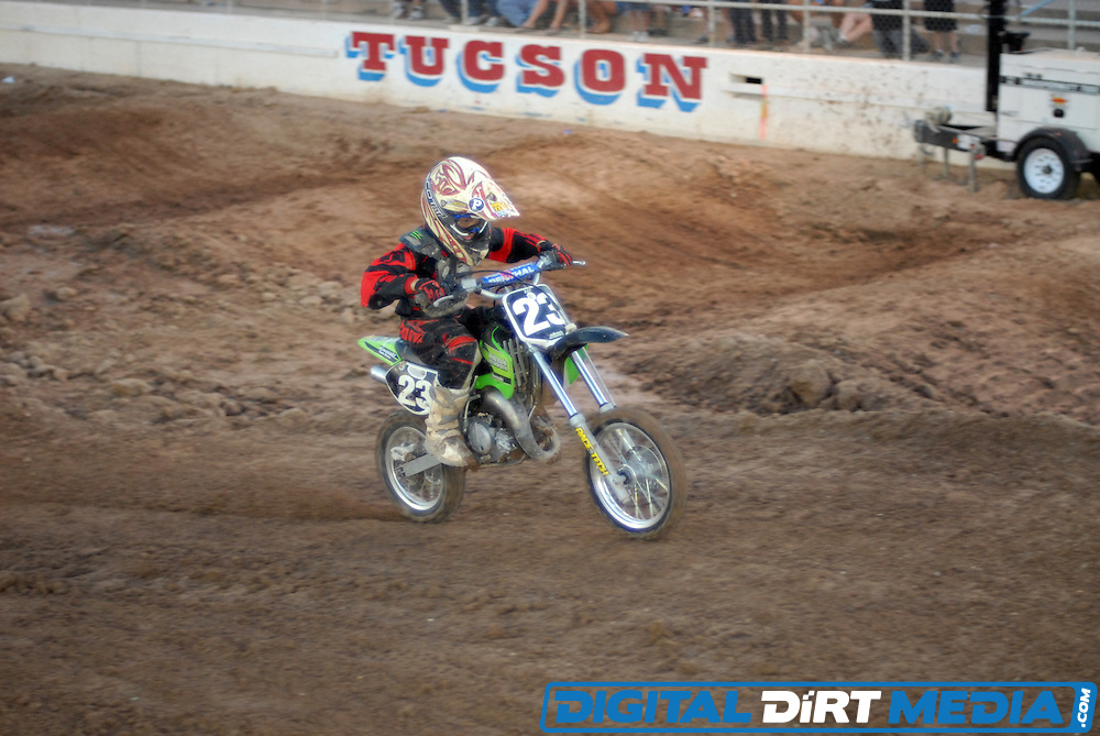 Arenacross presented by Xtreme World Productions at the Tucson Rodeo Grounds in Tucson, Arizona.