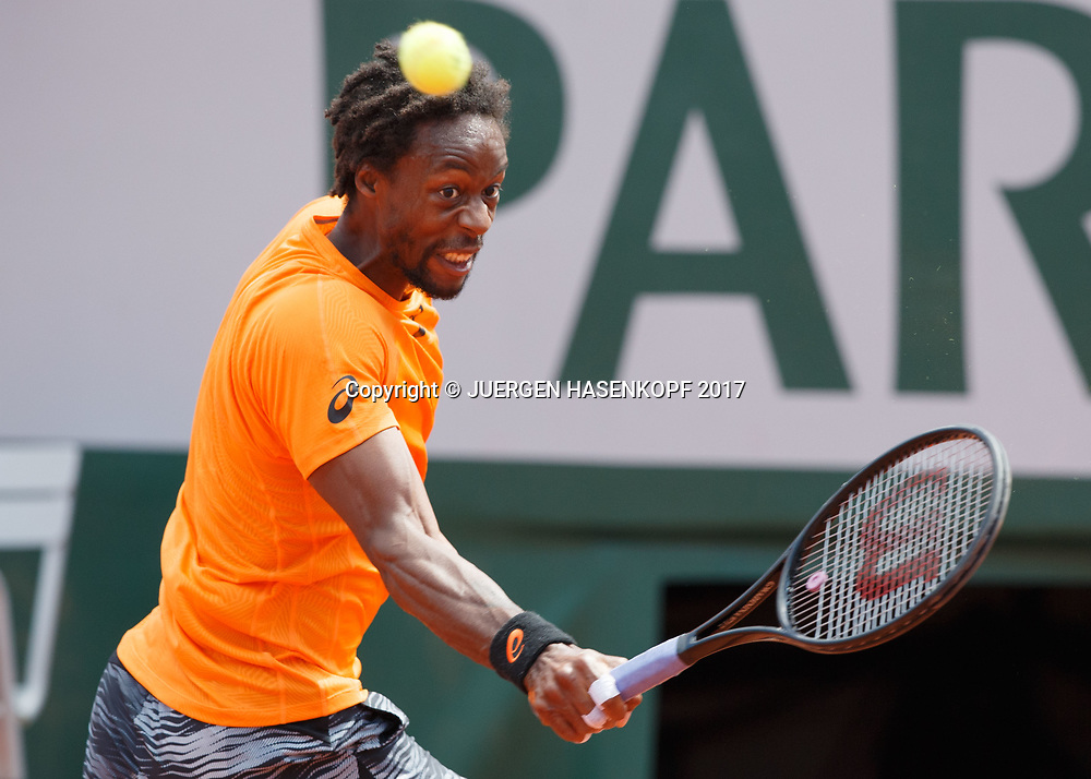 GAEL MONFILS (FRA)<br /> <br /> Tennis - French Open 2017 - Grand Slam / ATP / WTA / ITF -  Roland Garros - Paris -  - France  - 5 June 2017.