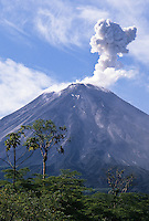 Arenal Volcano eruption; Volcan Arenal National Park, Costa Rica