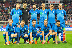 Starting eleven prior friendly football match between National teams of Austria and Slovenia on March 25, 2018 in Woerthersee Stadion, Klagenfurt, Austria. Photo by Mario Horvat / Sportida