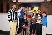 VALERIA NAPOLEONE; STEFANIA PRAMMA; AND FAMILY;  Pop party. the birthday celebration of twin sisters Valeria Napoleone and Stefania Pramma. Studio Voltaire, London SW4. 17 May 2013.