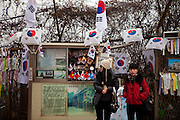 Visitors at Imjingak, located 7 km from the Military Demarcation Line, is now at the forefront of tourism related to the Korean Conflict. It was built in 1972 with the hope that someday unification would be possible.