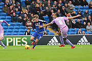 Cardiff City midfielder Craig Noone and Reading defender Michael Hector during the Sky Bet Championship match between Cardiff City and Reading at the Cardiff City Stadium, Cardiff, Wales on 7 November 2015. Photo by Jemma Phillips.