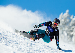 Ina Meschik of Austria competes during Qualification Run of Ladies' Parallel Giant Slalom at FIS Snowboard World Cup Rogla 2015, on January 31, 2015 in Course Jasa, Rogla, Slovenia. Photo by Vid Ponikvar / Sportida