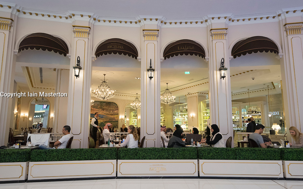 Upmarket Angelina Cafe in Dubai Mall United Arab Emirates
