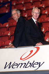 Nigel Potter CEO and Claes Hultman, Chairman, August 7, 2000. Photo by Andrew Parsons/i-Images.