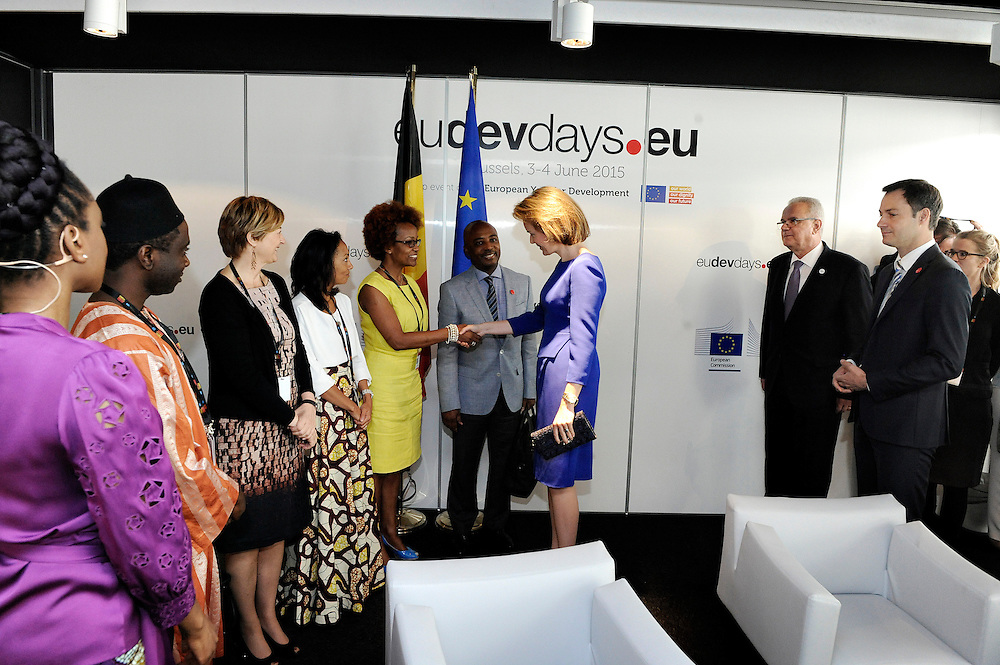 20150604- Brussels - Belgium - 04 June2015 - European Development Days - EDD  - Queen Mathilde of Belgium, Nesmy Manigat Haiti  and Alexander De Croo Belgian Minister  © EU/UE