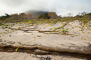 Intersting rock erosoin along the shore of James Bay, Santiago Island, Galapagos Archipelago - Ecuador.
