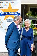 Prinses Beatrix der Nederlanden is Zeist aanwezig bij het symposium &ldquo;Muscles2Meet - Neuromuscular Young Talent Symposium&rdquo;, een initiatief van het Prinses Beatrix Spierfonds. <br /> <br /> Princess Beatrix of the Netherlands attends  the symposium &quot;Muscles2Meet - Neuromuscular Symposium Young Talent&quot;, an initiative of the Princess Beatrix Fund Spier.<br /> <br /> Op de foto / On the photo: