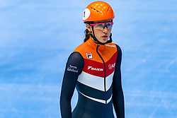 Suzanne Schulting in action on the 1500 meter during ISU World Cup Finals Shorttrack 2020 on February 15, 2020 in Optisport Sportboulevard Dordrecht.