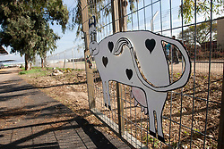 Cattle sign seen in this visit to a kibbutz, The Baptismal Site on the River Jordan, etc. Train & Travel is a unique ten day program designed for IKMF's instructors, students & guests, interested in combining Krav Maga training with a tour of the holy land. Sunday 2nd Jan, 2011..©2011 Michael Schofield. All Rights Reserved.