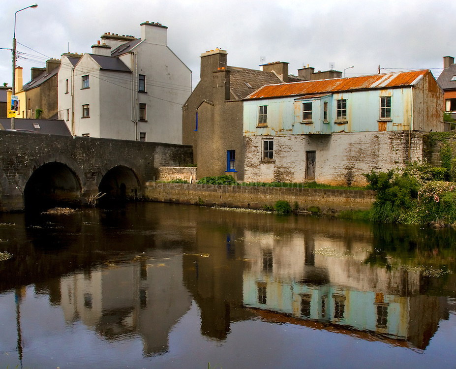 The Bridge and river Inagh at Ennistymon..
