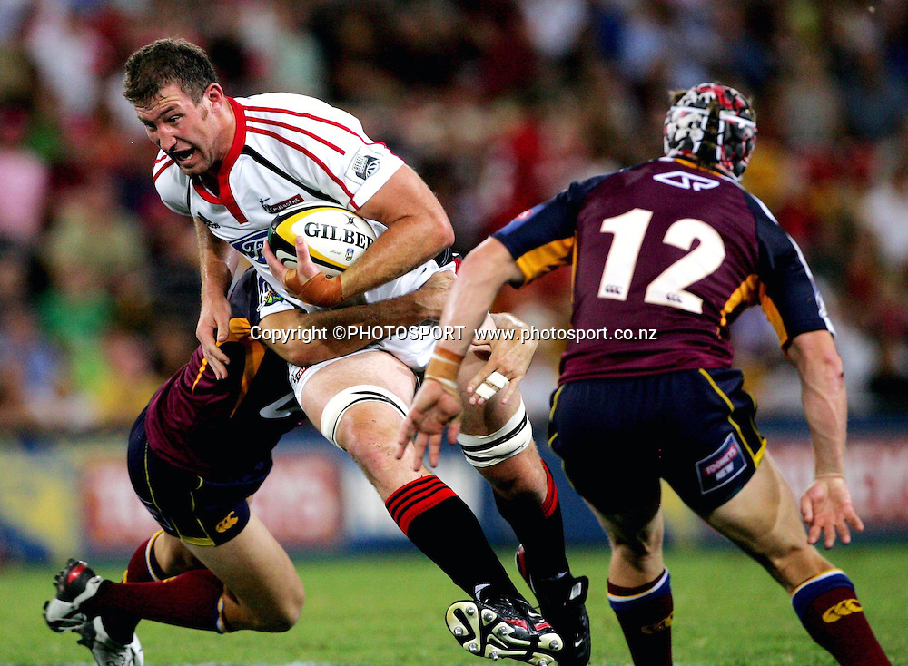 Chris Jack during the 2006 Super 14 rugby union match between the Reds and the Crusaders at Suncorp Stadium, Brisbane, Australia, on Saturday 18 February, 2006.Crusaders defeated Reds 47-21. Photo: PHOTOSPORT