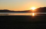 Sunset. Solnedgang, Selbusjøen,