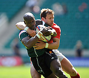 Twickenham. Great Britain, Action from the  Wales vs Zimbabwe, during the 2012 Marriott London Sevens Rugby played at the RFU Stadium, England on Saturday  {DATE{  [Mandatory Credit. Peter Spurrier/Intersport Images]
