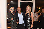 LANA HOLLOWAY; AZZY ASGHARI; CRISTINA RAPTIS Liz Brewer Festive Celebration hosted by Daphne Mckinley Edwards chairman of the Sean Edwards , Foundation at Altitude. Millbank Tower, London SW1. 3 DECEMBER 2016.