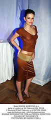 Model SOPHIE ANDERTON at a party in London on 3rd February 2004.PRI 88
