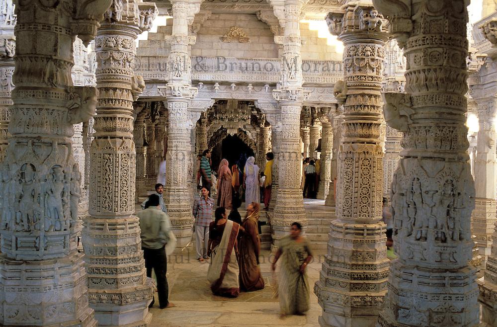 Inde. Rajasthan. Ranakpur. Temple Jaïn de Adinatha. // Inde. Rajasthan. Ranakpur. Jain temple of Adinatha.