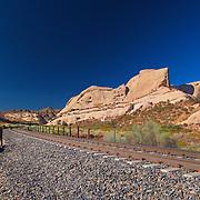 Mormon Rocks And Railroad Tracks - North View - HDR