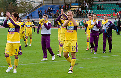 Ales Mejac, Ales Mertelj celebrate at 13th Round of Prva Liga football match between NK Olimpija and Maribor, on October 17, 2009, in ZAK Stadium, Ljubljana. Maribor won 1:0. (Photo by Vid Ponikvar / Sportida)