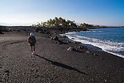 Keawaiki, Black Sand Beach, Kohala, Big Island of Hawaii