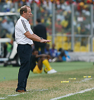 Photo: Steve Bond/Richard Lane Photography.<br />Ghana v Nigeria. Africa Cup of Nations. 03/02/2008. Bertie Vogts tries for calm