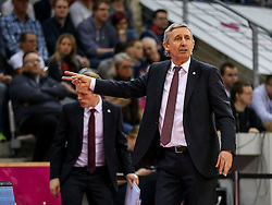 28.03.2016, Telekom Dome, Bonn, GER, Beko Basketball BL, Telekom Baskets Bonn vs FC Bayern Muenchen, 23. Runde, im Bild vl. Svetislav Pesic (Muenchen, Trainer, Coach, Headcoach) // during the Beko Basketball Bundes league 23th round match between Telekom Baskets Bonn and FC Bayern Munich at the Telekom Dome in Bonn, Germany on 2016/03/28. EXPA Pictures © 2016, PhotoCredit: EXPA/ Eibner-Pressefoto/ Horn<br /> <br /> *****ATTENTION - OUT of GER*****