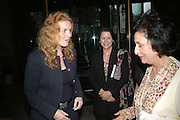 Sarah, Duchess of York, Leonora van Gils, Zerbano Gifford.  Zerbanoo Gifford: Confessions Of A Serial Womaniser - book launch party, National Portrait Gallery, St Martins Place, London, WC2, Indian human rights campaigner celebrates new publication, Confessions Of A Serial Womaniser, a book about inspirational and influential women. 20 September 2007. .-DO NOT ARCHIVE-© Copyright Photograph by Dafydd Jones. 248 Clapham Rd. London SW9 0PZ. Tel 0207 820 0771. www.dafjones.com.