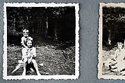 children in the woods during a picnic ca 1950s Holland