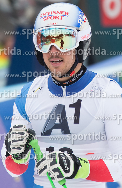 28.02.2016, Hannes Trinkl Rennstrecke, Hinterstoder, AUT, FIS Weltcup Ski Alpin, Hinterstoder, Riesenslalom, Herren, 2. Lauf, im Bild Carlo Janka (SUI) // Carlo Janka of Switzerland reacts after his 2nd run of men's Giant Slalom of Hinterstoder FIS Ski Alpine World Cup at the Hannes Trinkl Rennstrecke in Hinterstoder, Austria on 2016/02/28. EXPA Pictures © 2016, PhotoCredit: EXPA/ Johann Groder