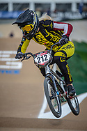 #212 (PETERSONE Vineta) LAT at Round 1 of the 2020 UCI BMX Supercross World Cup in Shepparton, Australia