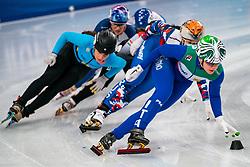 Short tracker Arianna Fontana ITA in action on the 1500 meter semifinals during ISU European Short Track Speed Skating Championships 2020 on January 25, 2020 in Fonix Hall, Debrecen, Hungary